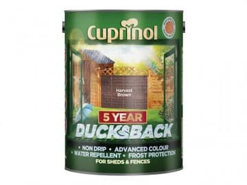 Ducksback 5 Year Waterproof for Sheds & Fences Harvest Brown 5 litre